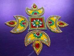 Bright Acrylic Rangoli