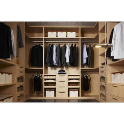 5 Shelves Wooden Modular Wardrobes