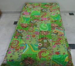 New Cotton Kantha Patch Work Bed Cover Single