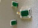 Emerald Square Pendant Set