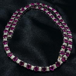 Diamond And Natural Color Stone Necklaces