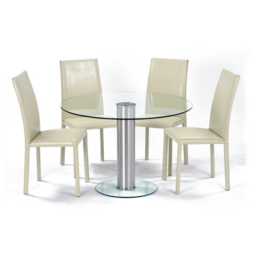20bf9592fe8a Glass Dining Table - Glass Table & Chairs Latest Price, Manufacturers &  Suppliers