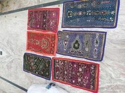 Indian Embroidered Beads Work Wall Hanging Tapestry Art