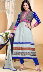 LadiesWhite Georgette Suit