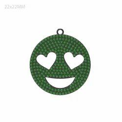 Emoji Charm Gemstone Pendant