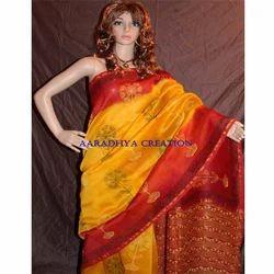 df211fe9a24de0 Printed Chanderi Silk Saree, चंदेरी रेशमी साड़ी ...