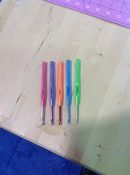 Plastic Colored Handle Crochet Hooks