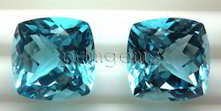Sky Blue Topaz Faceted Antique Cushion Gemstones