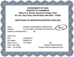Certified for Importer & Exporter