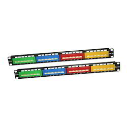 Cat 5e 24 Port Angled Patch Panel