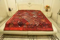 Paki Patchwork Embroidered Bed Cover