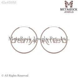 14k Rose Gold Hoop Diamond Earrings Jewelry