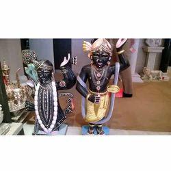 Radha Krishna Posing In Black Stone