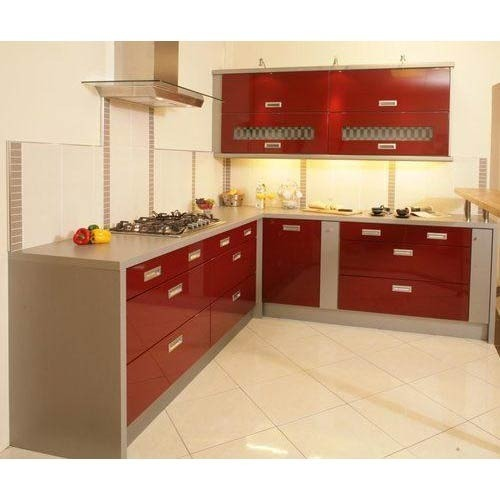 Fancy modular kitchen l shaped modular kitchen service for L shaped modular kitchen designs photos