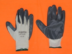 Grey Nitrile Coated Gloves