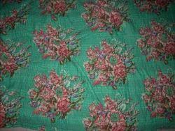 Designer Printed Kantha Quilt