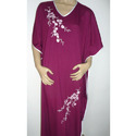 Embroidered Long Kaftan, Size: Xs - Xl
