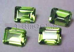 Peridot Faceted Octagon Gemstone