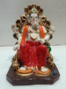 Glossy Finish Fibre Ganesh Statue, Table, Temple, For Home Decor