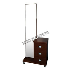Mirror With Side Drawer Dressing Set
