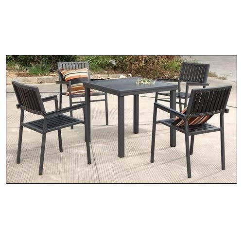Excellent Outdoor Metal Dining Furniture Aluminium With Polywood Evergreenethics Interior Chair Design Evergreenethicsorg