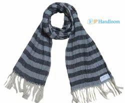 Handloom Black Yarn Dyed Stole