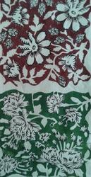 Flowers Block Print Fabric