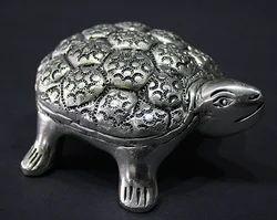 German Silver Tortoise Sculpture