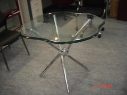 Glass Discussion Table