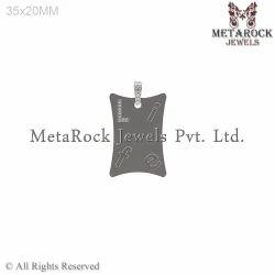 Sterling Silver Diamond Life Initial Charm Pendant