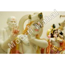 White Marble Lord Krishna Statue