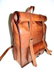 aaada6439f20 Vintage Leather Bags - Leather Roll Backpack Exporter from Jaipur