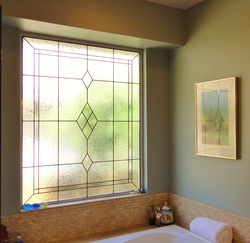 Bathroom Stained Toughened Glass Windows