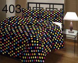 Black Printed Quilt