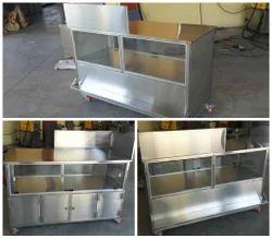 Metal Rectangular SS Snacks Counter, for Restaurant