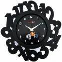 Black Wooden Designer Clocks