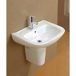 Fonte Wash Basin With Half Pedestal