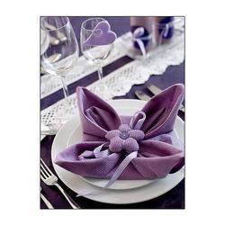 Nylon Plain Table Napkins, Size: 40x40 Cm