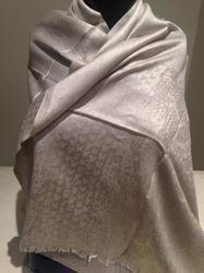Wool Melange Jacquard Scarves