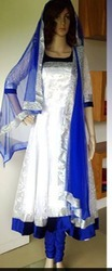 White And Blue Color Long Suit