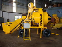 Mini Mobile Batching Plant with diesel engine