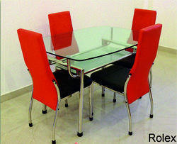 Rolex SS Dining Table Set