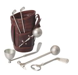 Corporate Leather Golf Bar Set