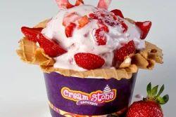 Creamy Strawberries Ice cream