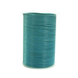 Turquoise Round Leather Strings