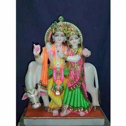 God Radha Krishna Marble idol