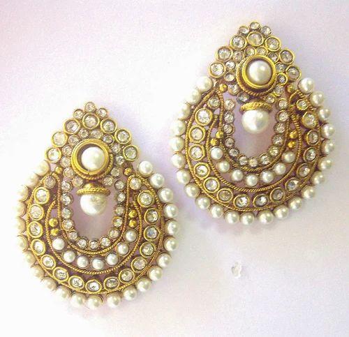 Imitation White Pearl Earrings