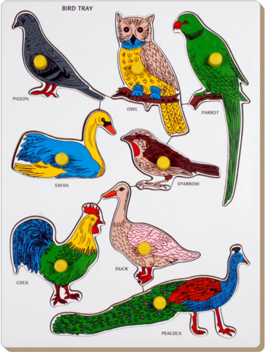 Wooden Bird Tray Puzzles - View Specifications & Details of Puzzle