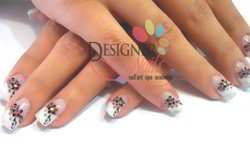 American Extension Wedding 2D Glitter Color Nail Services
