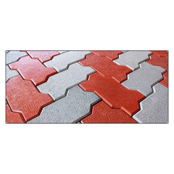 Zig Zag Concrete Pavers, For Pavement, Thickness: 60 Mm